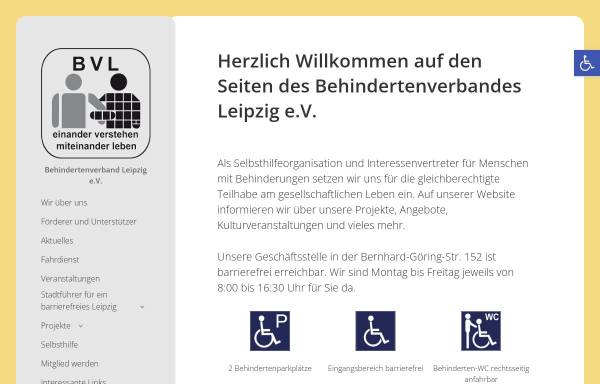 Vorschau von www.le-online.de, Behindertenverband Leipzig e.V.
