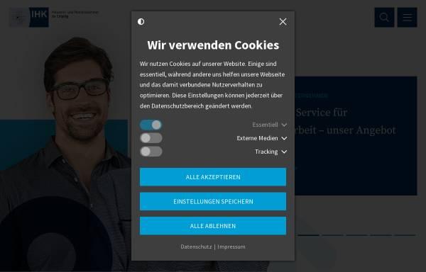 Vorschau von www.leipzig.ihk.de, Industrie- und Handelskammer zu Leipzig