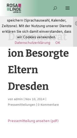 Vorschau der mobilen Webseite www.rosalinde-leipzig.de, JuLe Leipzig
