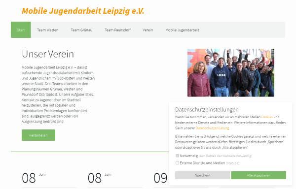 Vorschau von www.kuebelonline.de, Mobile Jugendarbeit Leipzig e.V.