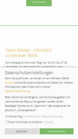 Vorschau der mobilen Webseite www.kuebelonline.de, Mobile Jugendarbeit Leipzig e.V.