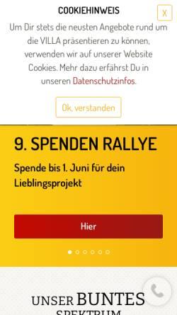 Vorschau der mobilen Webseite www.villa-leipzig.de, Soziokulturelles Zentrum
