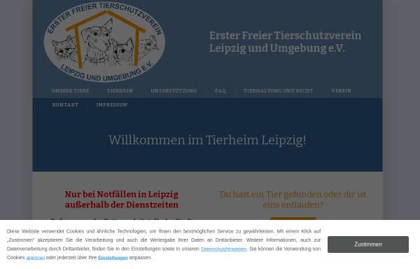 Vorschau von www.tierheim-leipzig.de, Tierheim Leipzig