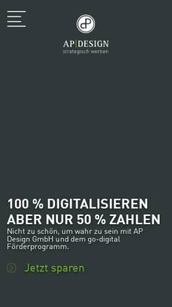 Vorschau der mobilen Webseite www.apdesign.de, AP Design GmbH