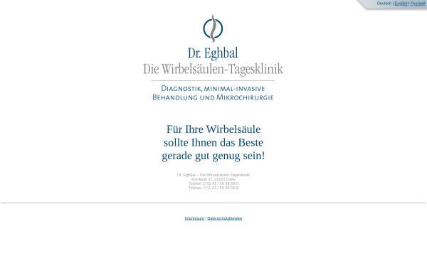 Vorschau von www.eghbal-neuroklinik.de, Dr. Eghbal & Coll. – Die Wirbelsäulen-Tagesklinik