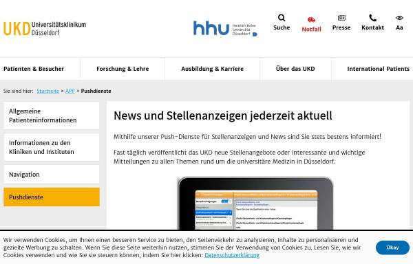 Vorschau von www.uniklinik-duesseldorf.de, Neurologische Klinik Universität Düsseldorf