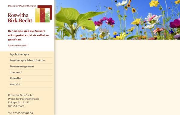 Vorschau von www.psychotherapie-birk-becht.de, Analytische Gestalttherapie, Paar- und Familientherapie Roswitha Birk-Becht