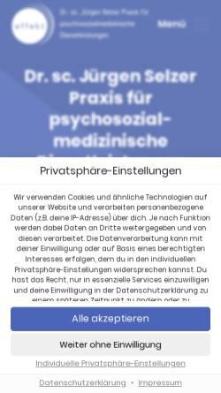 Vorschau der mobilen Webseite www.therapieeffekt.de, Dr. Jürgen Selzer