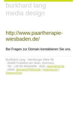 Vorschau der mobilen Webseite www.beziehungswerkstatt-wiesbaden.de, Tiefenpsychologisch fundierte Psychotherapie - Hans Uwe Rose