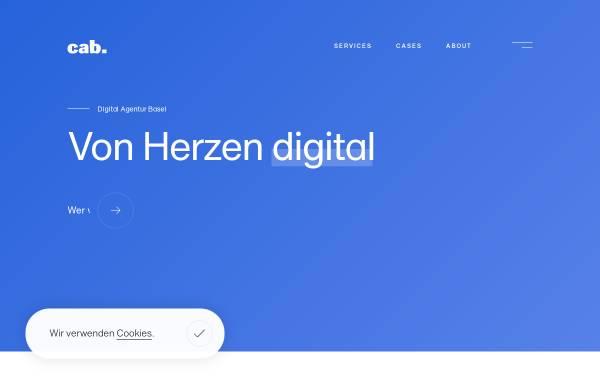 Vorschau von www.cabag.ch, Cab Services AG