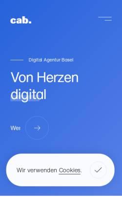 Vorschau der mobilen Webseite www.cabag.ch, Cab Services AG