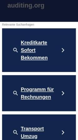 Vorschau der mobilen Webseite german.auditing.org, Auditing in Scientology