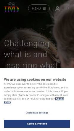 Vorschau der mobilen Webseite www.imd.org, IMD International Business School - International Management Institute for Executive Development and Education