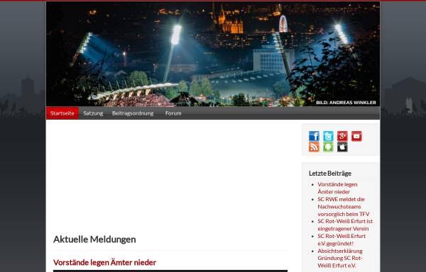 Vorschau von www.rot-weiss-erfurt.com, Rot-Weiß Erfurt, Fanseite