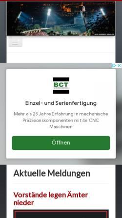 Vorschau der mobilen Webseite www.rot-weiss-erfurt.com, Rot-Weiß Erfurt, Fanseite