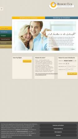 Vorschau der mobilen Webseite www.eck-immo.de, Robert Eck Immobilien-Verwaltungs-GmbH