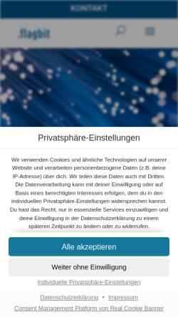 Vorschau der mobilen Webseite www.flagbit.de, Flagbit GmbH & Co. KG