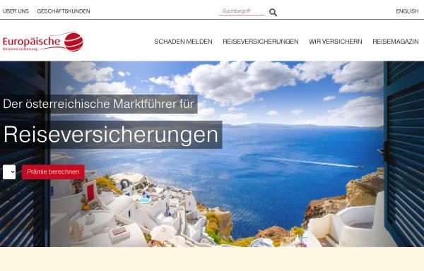 Vorschau von www.europaeische.at, Europäische Reiseversicherung AG