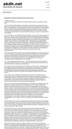 Vorschau der mobilen Webseite www.akdh.ch, Bedenkliche Ansichten Rudolf Steiners über Rassen - Petrus van der Let
