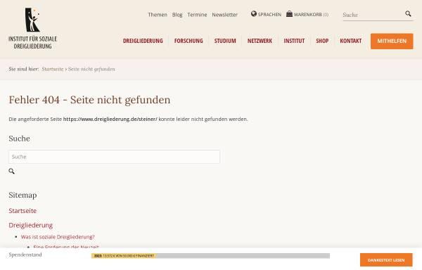 Vorschau von www.dreigliederung.de, Institut für soziale Dreigliederung im Sinne von Rudolf Steiner