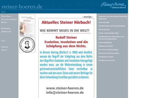 Vorschau von www.steiner-hoeren.de, Rudolf Steiner-Hörbücher