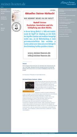 Vorschau der mobilen Webseite www.steiner-hoeren.de, Rudolf Steiner-Hörbücher