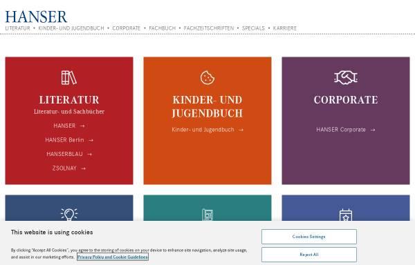 Vorschau von www.hanser.de, Carl Hanser Verlag GmbH & Co KG
