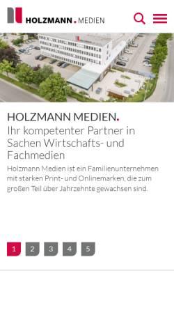Vorschau der mobilen Webseite www.holzmannverlag.de, Hans Holzmann Verlag GmbH & Co KG