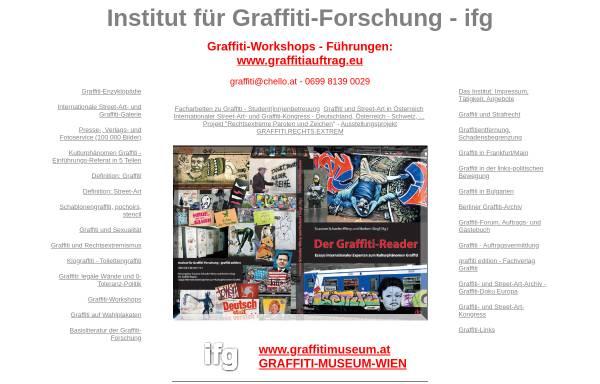 Vorschau von www.graffitieuropa.org, Institut für Graffiti-Forschung