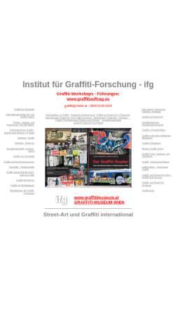 Vorschau der mobilen Webseite www.graffitieuropa.org, Institut für Graffiti-Forschung