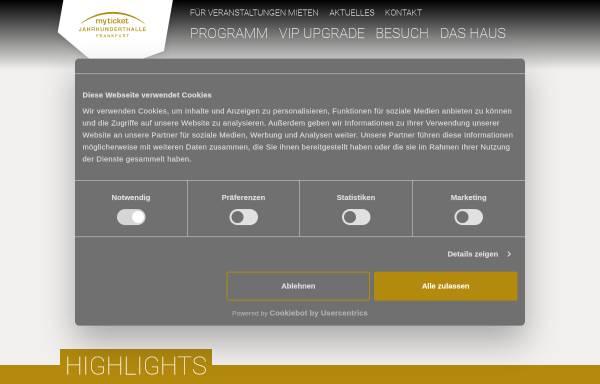 Vorschau von www.jahrhunderthalle.de, Jahrhunderthalle