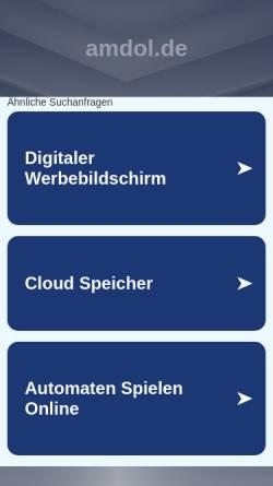 Vorschau der mobilen Webseite www.amdol.de, AMD Arbeitsmedizinischer Dienst freiberuflicher Betriebsärzte GmbH