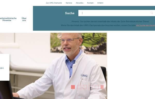 Vorschau von www.betriebsarzt.med.uni-goettingen.de, Betriebsärztlicher Dienst der Georg-August-Universität Göttingen