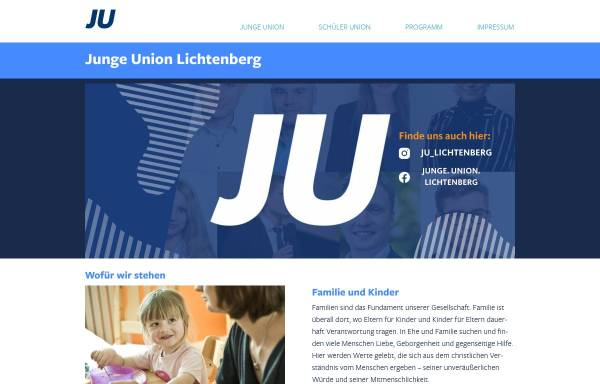 Vorschau von www.ju-lichtenberg.de, Junge Union Lichtenberg