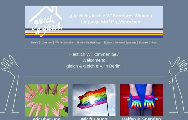 Vorschau von gleich-und-gleich.de, Betreutes Jugend- und Einzelwohnen für Lesben und Schwule