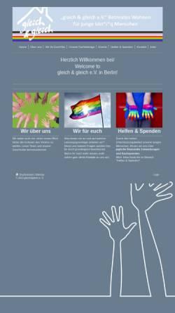 Vorschau der mobilen Webseite gleich-und-gleich.de, Betreutes Jugend- und Einzelwohnen für Lesben und Schwule