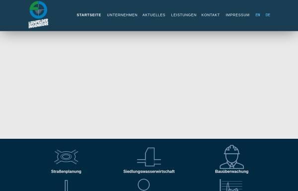 Vorschau von www.leinfelder-ingenieure.de, Leinfelder Ingenieure GmbH