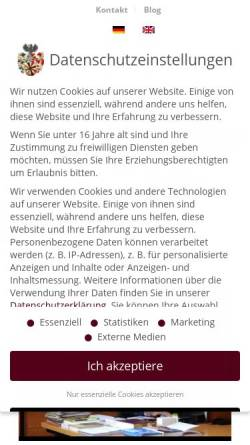 Vorschau der mobilen Webseite pro-heraldica.de, PRO HERALDICA Deutsche Forschungsgesellschaft für Heraldik und Genealogie mbH