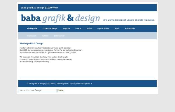 Vorschau von www.baba.at, baba grafik & design