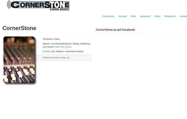 Vorschau von www.cornerstone.at, CornerStone Living Music