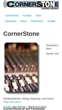 Vorschau der mobilen Webseite www.cornerstone.at, CornerStone Living Music