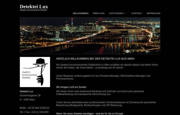 Vorschau von www.detektei-lux.at, Detektei Lux