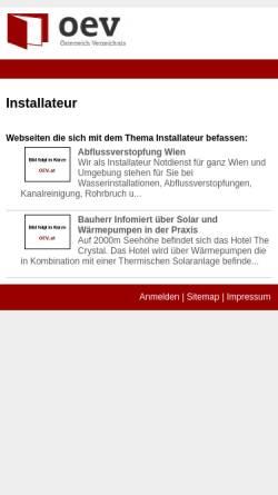 Vorschau der mobilen Webseite www.wiener-installateur.at, In Therm - Installateur & Notdienst