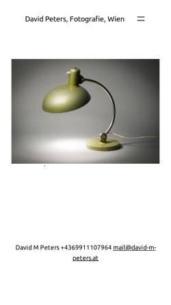 Vorschau der mobilen Webseite www.david-m-peters.at, Studio für Fotografie und Grafik