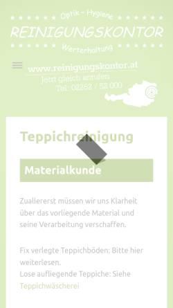 Vorschau der mobilen Webseite teppichreinigung.co.at, Teppichreinigung.co.at