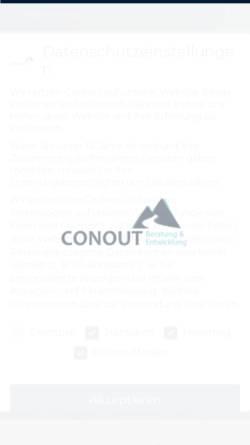 Vorschau der mobilen Webseite conout.com, CONOUT Constructive Outdoor Training