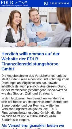 Vorschau der mobilen Webseite www.fdlb.info, FDLB Finanzdienstleistungsbörse GmbH