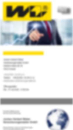 Vorschau der mobilen Webseite www.weber-versicherungsmakler.de, Jochen Herbert Weber Versicherungsmakler GmbH