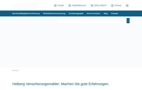 Vorschau von www.helberg.info, Matthias Helberg Versicherungsmakler e.K.