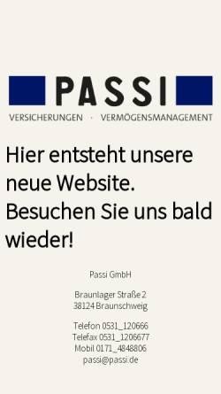 Vorschau der mobilen Webseite www.passi.de, Passi und Partner